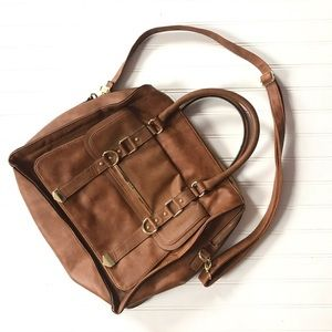 Steve Madden brown shoulder bag/ laptop bag